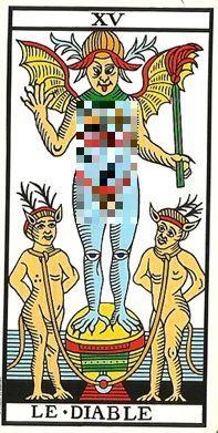 La carta dei tarocchi del diavolo