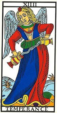 carta della temperanza arcani maggori
